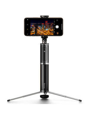 Baseus SUDYZP-D1S Full Storage 360 Degree Rotating Bluetooth Selfie Stick For Mobile Phones Below 6.5 Inch, With Anti-Slip Tripod