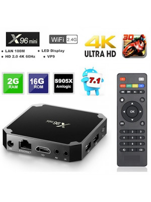 Android Smart TV Box X96 Mini Quad Core 2g+16g Android 7.1.2 & 9.0