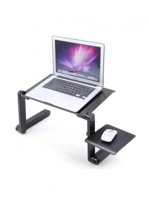 T8 Multi-Function Aluminium Laptop Cooling Table - Black