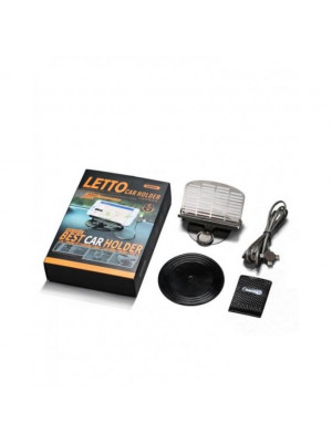 Remax Letto Car Holder With 3 In 1 Charging Cable (Lightning+Micro+Type C)