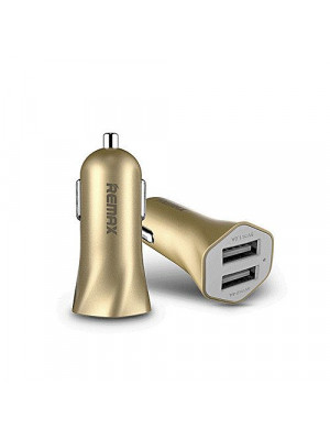 RCC204 - Remax Fast 7 2USB Car Charger - Golden