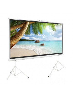 Projector Screen 150 Inch Tripod Potable Double Stand 8x10 Feet 4:3m:w Speed-X