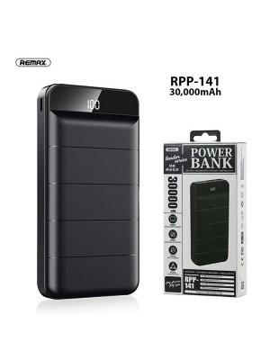 Remax RPP-141 Leader Series 30000mAh Powerbank With 3 Charging Inputs (Micro USB, Type C & IOS) 2 USB Output