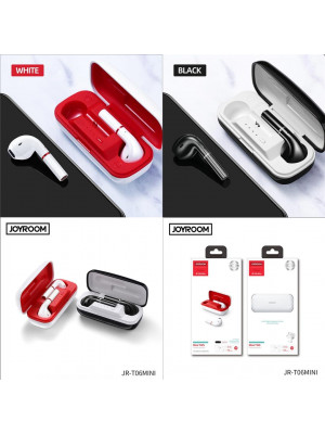 JOYROOM T06 Mini TWS Wireless Earphones Bluetooth 5.0 Touch Control Earbuds Left Right Switch Sport Headset with Mic
