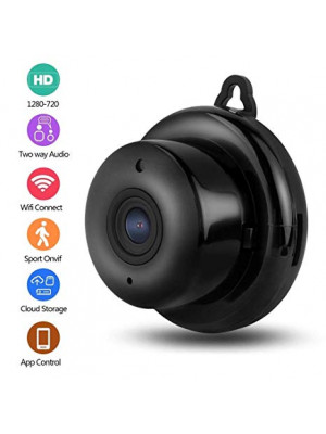 Home Security WIFI Mini IP Camera, 960P HD Night Vision Wireless Indoor & Outdoor Surveillance System, 115° Wide-Angle Viewing, Motion Detection, Baby Monitor, Two-way Audio
