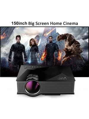 UNIC UC46+ Wifi Portable 1200 Lumens Mini Projector 150 Inches Full HD Display