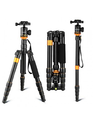 Tourism Tripod Q555 Portable Magnesium Aluminium Monopod with Ball Head - Black