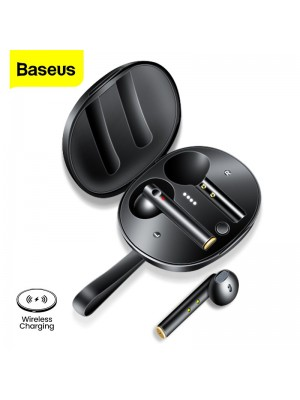 Baseus W05 TWS Bluetooth 5.0 Earphones IP55 Waterproof HD Stereo Earbuds Support Qi Wireless Charging