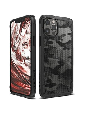 Ringke Fusion-X Design Case iPhone12 / 12 Pro - Camo Black