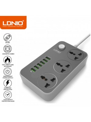 LDNIO SC3604 10A Power Strip 6 USB 3 Universal Socket With Overload Protector Circuit Breaker Switch Outlet Extend
