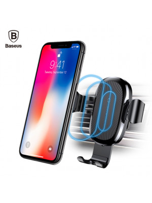 Baseus Intelligent Sensor Fast QI Wireless Charger Air Vent Mount Mobile Car Phone Holder