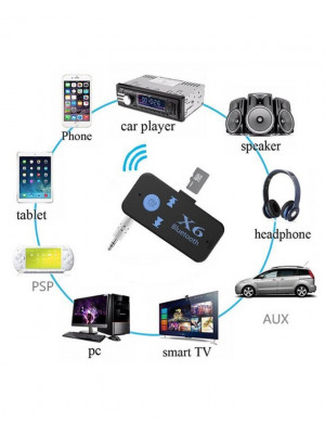 Car Bluetooth X6 Music Receiver With Tf Card Reader