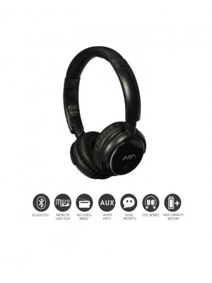 NIA Q1 Wireless Bluetooth Headphone With App Control - Black