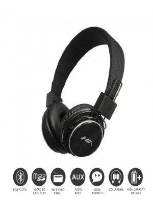 NIA Q8 Wireless Bluetooth Folding Sports Headphones With APP Support
