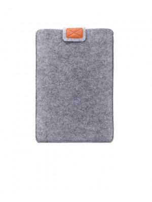 15.6 Inch Premium Soft Laptop Sleeve - Silver