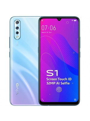 Vivo S1 - 4GB RAM - 128GB ROM in Display FingerPrint 32MP Selfie Camera - Skyline Blue