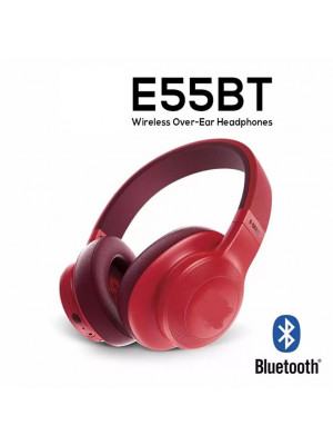 E55BT Wireless Bluetooyh Headphone - Red