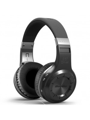 BLUEDIO H+ Turbine Hurrican Wireless Bluetooth 4.1 Headphones - Black