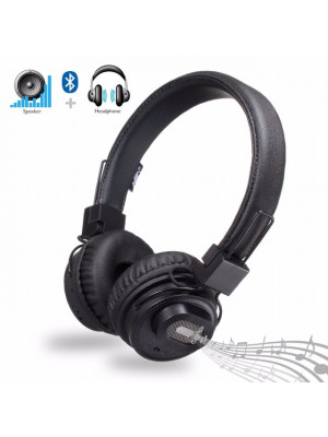 NIA X5SP Bluetooth Wireless Headphone+Speaker - Black