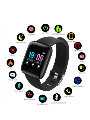 D13 Smart Bracelet Fitness Tracker Heart Rate Blood Pressure Monitor Smart Band IP67 Waterproof Sports For Android IOS+Box