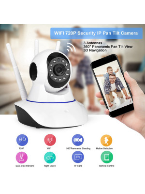 IP WiFi Smart Camera 360 With 3 Antenna Night Vision