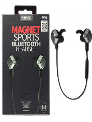 Remax S2 Magnet Sports Bluetooth Handsfree - Black