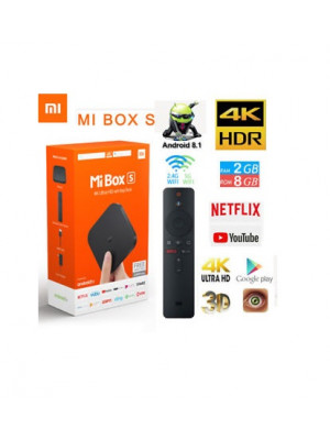 Xiaomi Mi Box S 4K HDR Android TV Streaming Media Player and Google Assistant Remote Smart TV Mi Box S