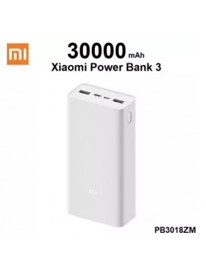 Original Xiaomi Mi Power Bank 3 PB3018ZM 30000mAh 18W Two-way Quick Charger Type-C 30000 mAh Powerbank