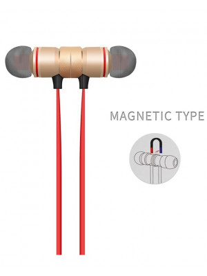 Xt6 Magnetic Sweatproof Sports Wireless Bluetooth V4.1 - Gold