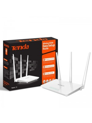 Tenda F3 300Mbps 2.4G Wireless WiFi Router Wi-Fi Repeater, English Interface 1WAN+3LAN Ports