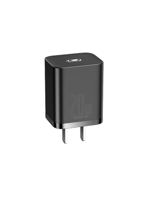 BASEUS Super Si 20W PD Mini Quick Wall Charger Travel Charger Type-C Port [US Plug]