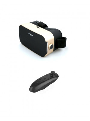 i7 - 3D Virtual Reality Headset With Bluetooth Remote - Black