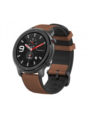 Amazfit GTR 47mm Smart Watch 5ATM Waterproof Smartwatch 24Days Battery Music Control Leather Silicon Strap