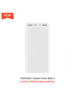Xiaomi Power Bank 3 PLM18ZM 20000mAh 18W Two-way Quick Charge Type-C Micro Input Power Bank