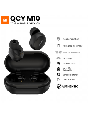 QCY M10 YouPin TWS Earphone Wireless Earbuds Bluetooth 5.0 App Control ACC SBC Light IPX4 Waterproof DSP
