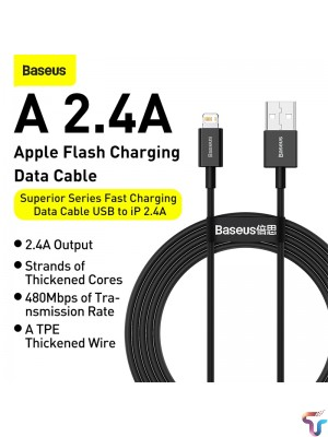 Baseus Superior Series IPhone Fast Charging Cable 2.4A 2M