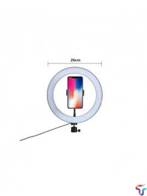 Ring Light With Mobile Holder 26cm for Live Streaming, Youtube Videos And Makeup - Black