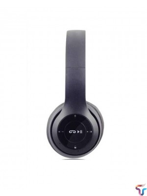 P47 Active Collection Bluetooth Foldable Headphone - Black