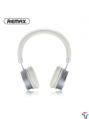 Remax RB-520HB Bluetooth Earphone Stereo Bass Comfort With Mic - Silver