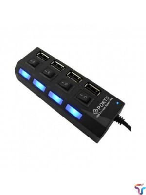 Usb Hub 4 Port 2.0 With Button