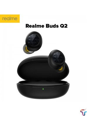 Realme Buds Q2 TWS Wireless Earphones Bluetooth 5.0 Earbuds Noise Cancellation 20 Hours playback Ipx4 Water Resistant Headphones