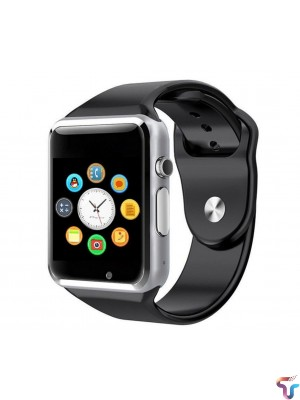 Apple Style W08 Bluetooth Smart Watch With GSM & TF Card Slot – Black Silver