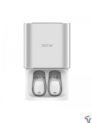 QCY T1 Pro TWS True Bluetooth 5.0 HiFi Stereo Dual Mic Earphone With Charging Box - White