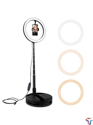 Stretchable 26CM LED Ring Lights USB Annular Lamp with 168cm stand Photo Studio Photography light for Live YouTube Fill Light