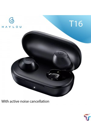 HAYLOU T16 TWS Earbuds Bluetooth 5.0 ANC Noise Reduction Earphones Wearing Detection 32 Hours Battery Life Wireless Charging