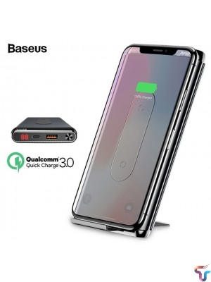 Baseus 10000mAh Qi Wireless Charger Power Bank With LCD QC3.0