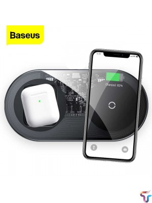 Baseus TZWXJK-A01 Simple 2 In 1 24W Turbo Edition Qi Standard Wireless Charger With 12V Charger, CN Plug