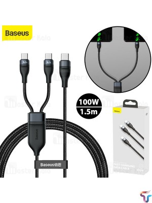 Baseus Flash Series 2-In-1 Fast Charging Type-C To Lightning+Type-C 100W Cable
