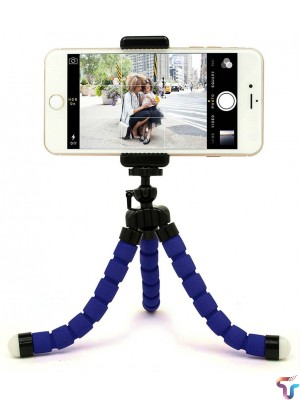 Flexible Octopus Tripod Stand Large - Blue