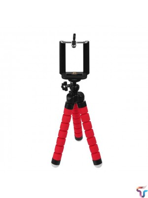 Flexible Octopus Tripod Stand Small - Red